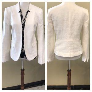 🌿LOFT Open Front Textured White Blazer